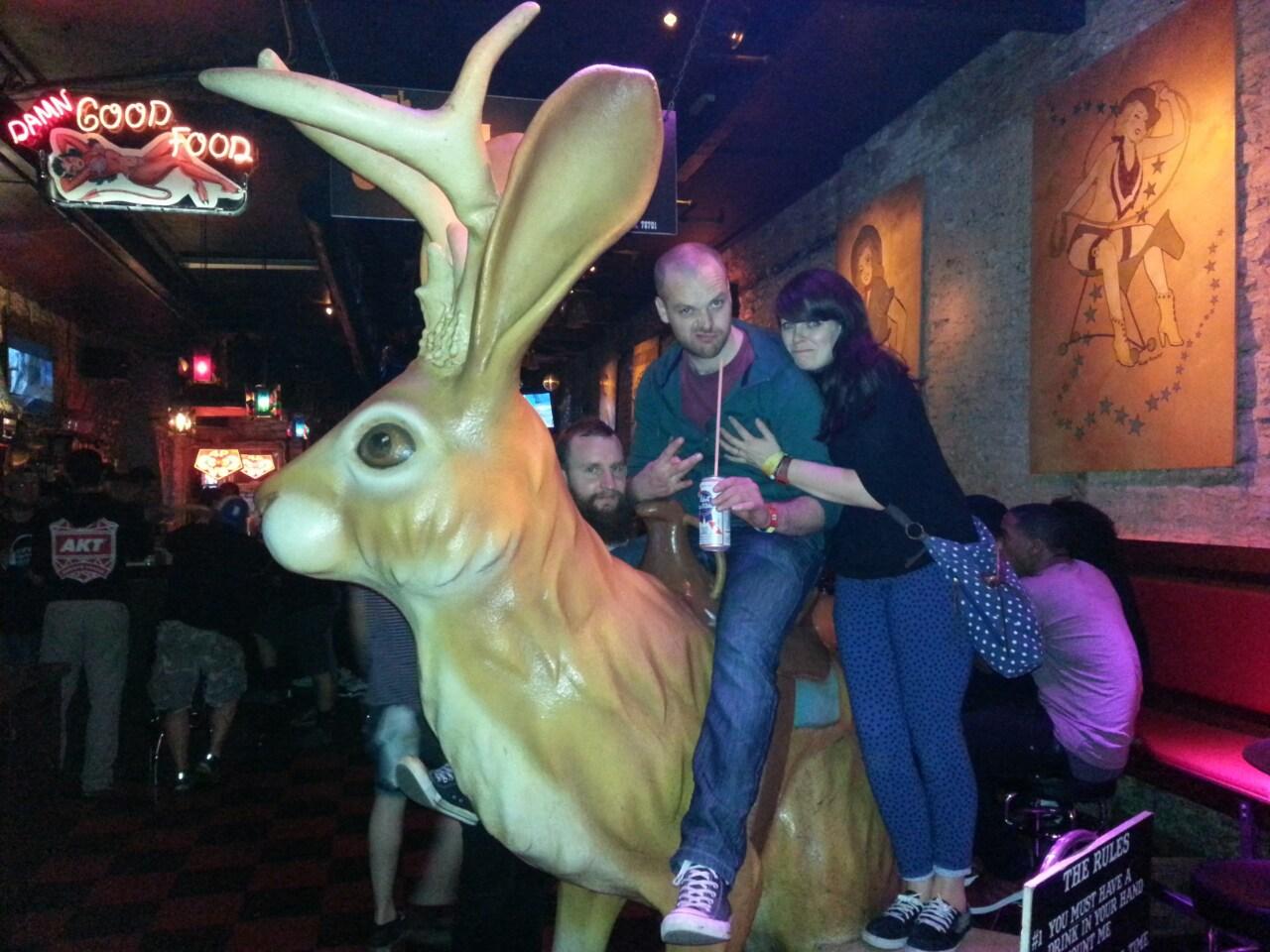 Dott being sober in thr Jackalope at SXSW