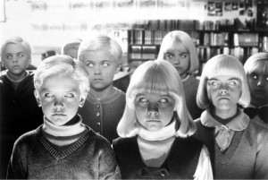 Village of the Damned (1995) Directed by John Carpenter Shown from left, foreground: Thomas Dekker (as David McGowan), Lindsey Haun (as Mara Chaffee)