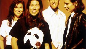 The Breeders, 1993 L-R:  Kelley Deal, Kim Deal, Jim Macpherson, Josephine Wiggs