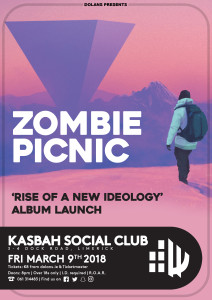 zombie picnic - gig poster