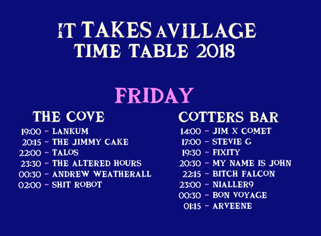 ITAV-FRIDAY-TIME-TABLE