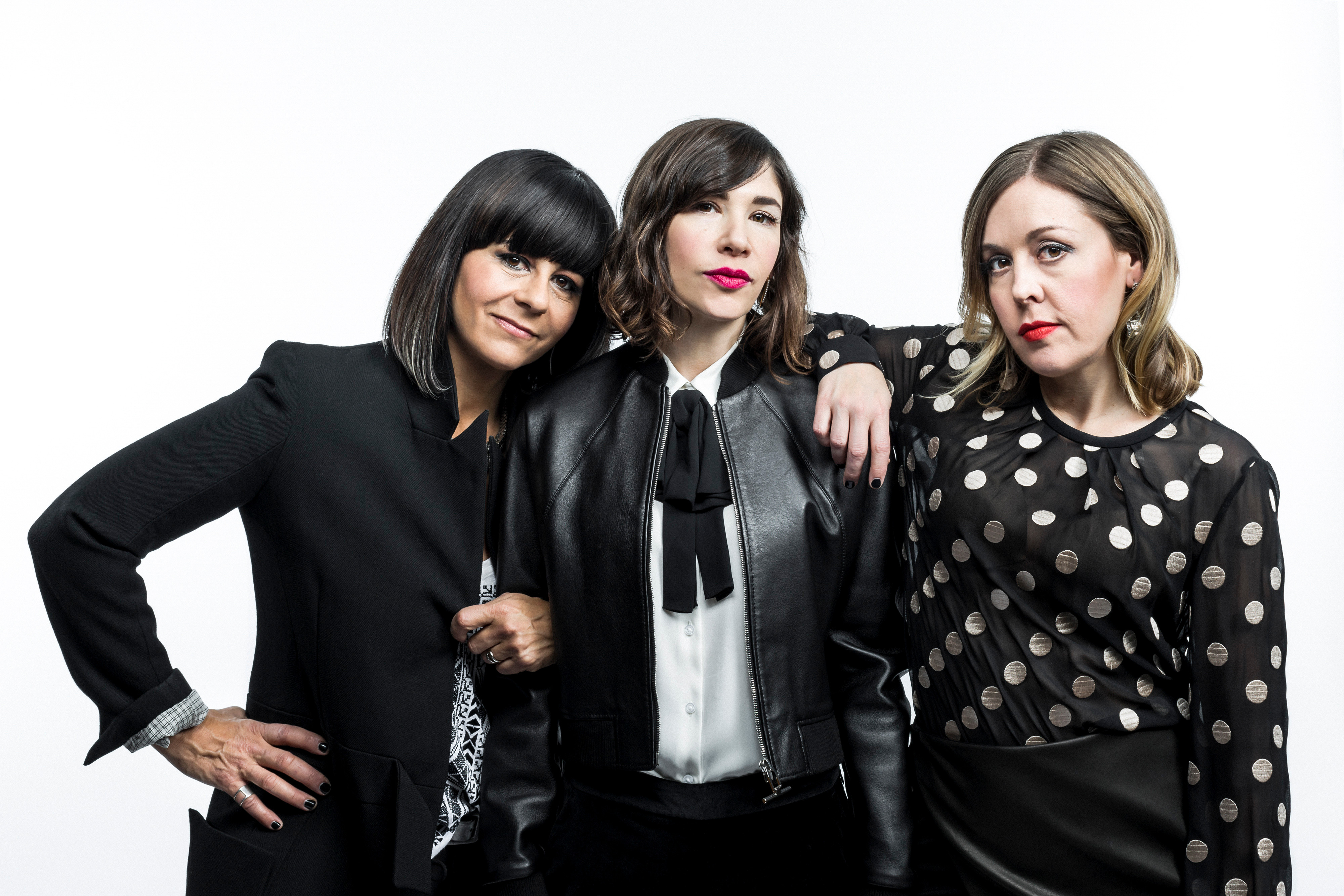 -- PHOTO MOVED IN ADVANCE AND NOT FOR USE - ONLINE OR IN PRINT - BEFORE JAN. 4, 2015. -- Janet Weiss, Carrie Brownstein and Corin Tucker of Sleater-Kinney in New York, Dec. 2, 2014. The all-female band Sleater-Kinney, sorely missed in indie-rock since 2006, is set to release a new album. (Chad Batka/The New York Times)