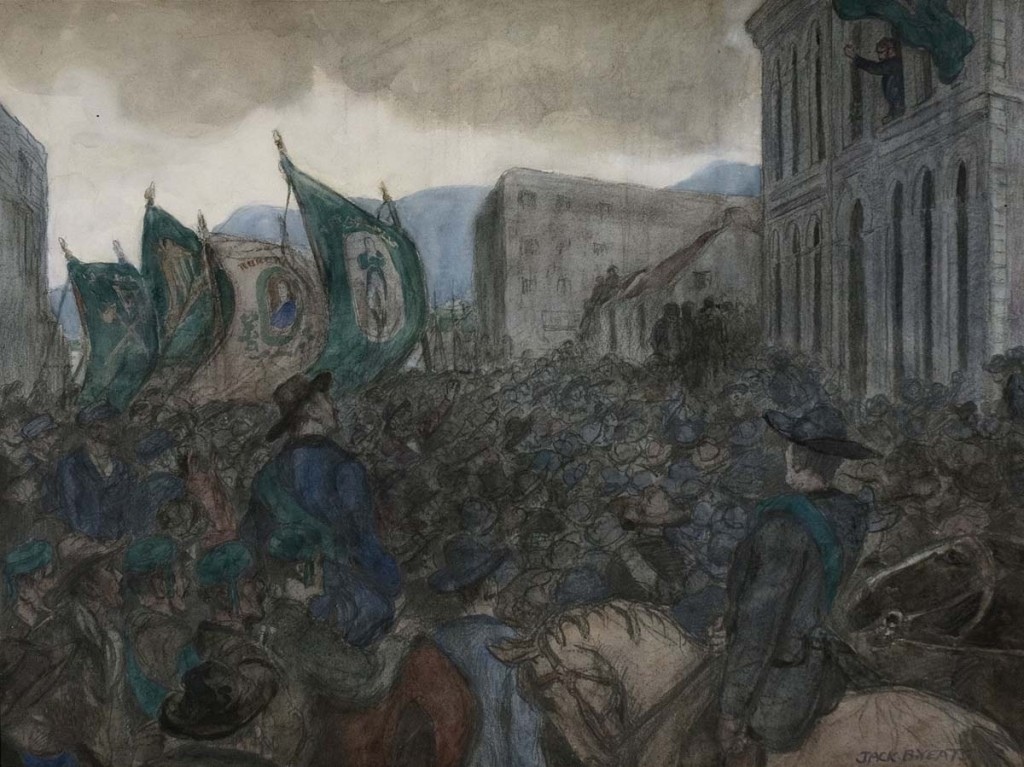 A-Political-Meeting-in-the-West-Of-Ireland-by-Jack-B.-Yeats-1871-1957