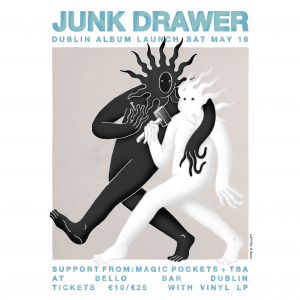 Junk Drawer Dublin Album Launch Gig Poster INSTAGRAM_