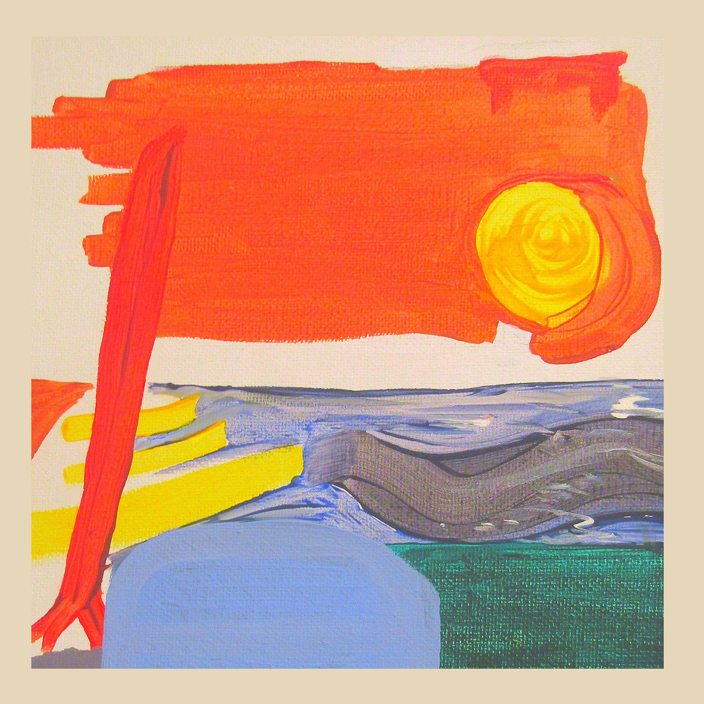 MurmurationAlbumCover - Painting by Niall Jackson