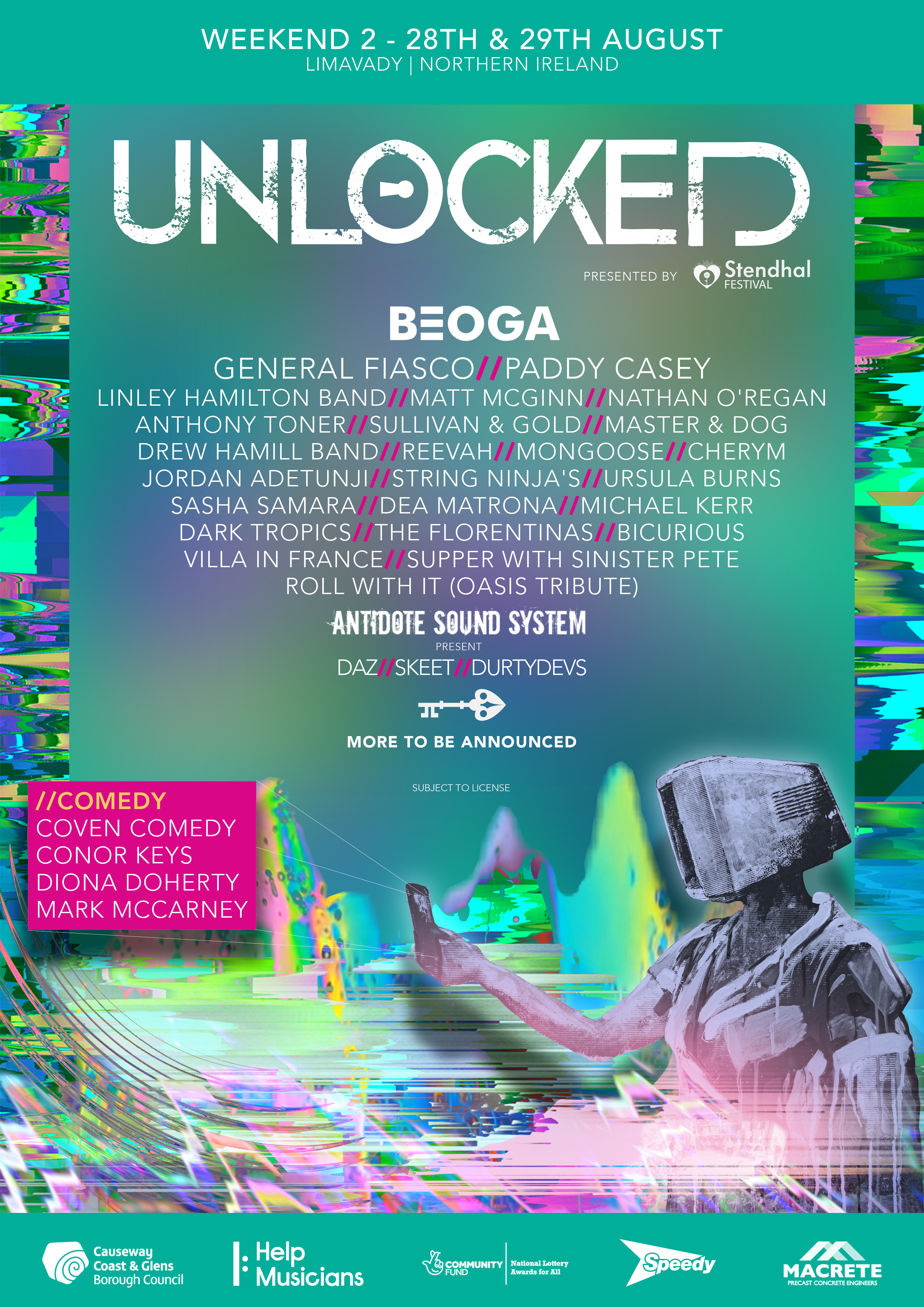 Unlocked Event 2 Lineup
